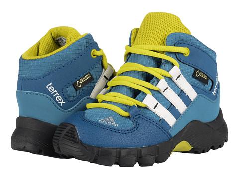 adidas Outdoor Kids Terrex Mid GTX (Toddler) - Blanch Blue/Chalk White/Tech Steel