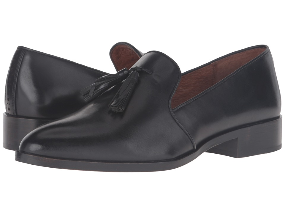 Frye - Erica Venetian (Black Smooth Veg Calf) Women