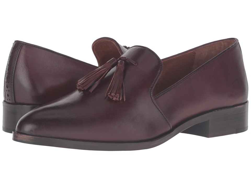 Frye - Erica Venetian (Bordeaux Smooth Veg Calf) Women