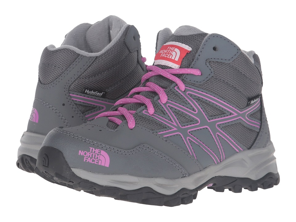 The North Face Kids Jr Hedgehog Hiker Mid WP(Little Kid/Big Kid) (Zinc Grey/Wisteria Purple) Girls Shoes