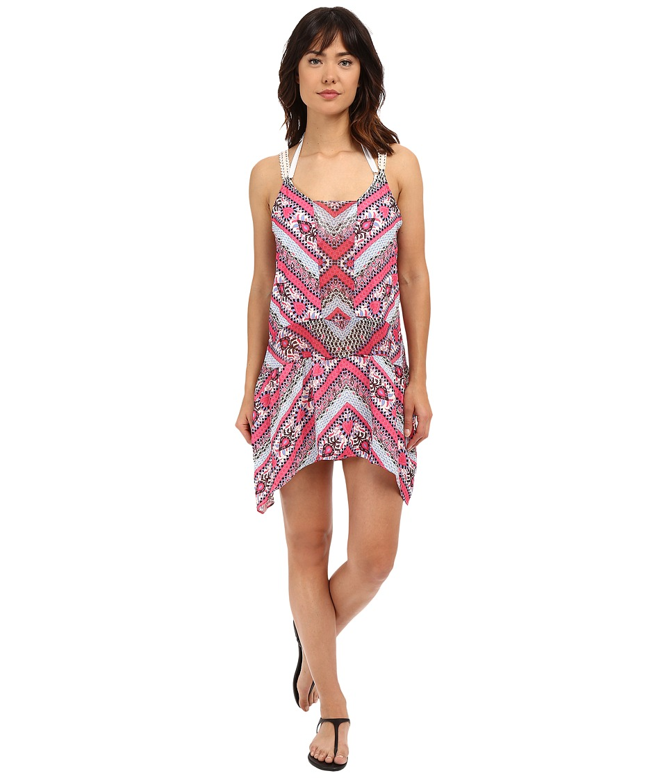 BECCA by Rebecca Virtue Secret Garden Dress Cover Up Multi Womens Swimwear