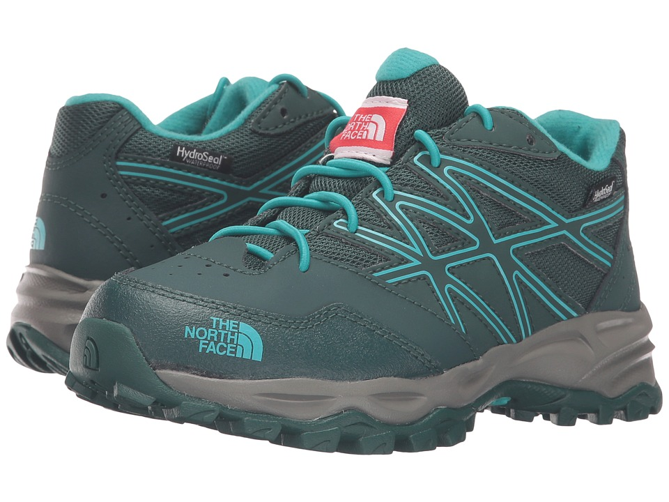 The North Face Kids - Jr Hedgehog Hiker WP(Little Kid/Big Kid) (Botanical Garden Green/Ion Blue) Girls Shoes