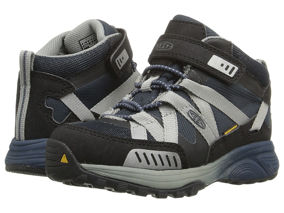 Keen Kids - Versatrail Mid WP (Toddler/Little Kid) (Midnight Navy/Neutral Gray) Boys Shoes