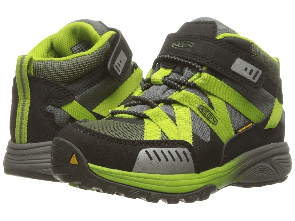 Keen Kids - Versatrail Mid WP (Toddler/Little Kid) (Burnt Olive/Macaw) Boys Shoes