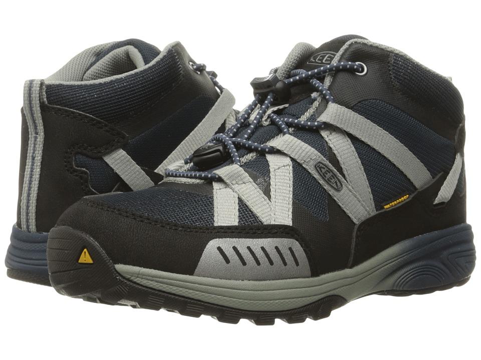 Keen Kids - Versatrail Mid WP (Little Kid/Big Kid) (Midnight Navy/Neutral Gray) Boys Shoes