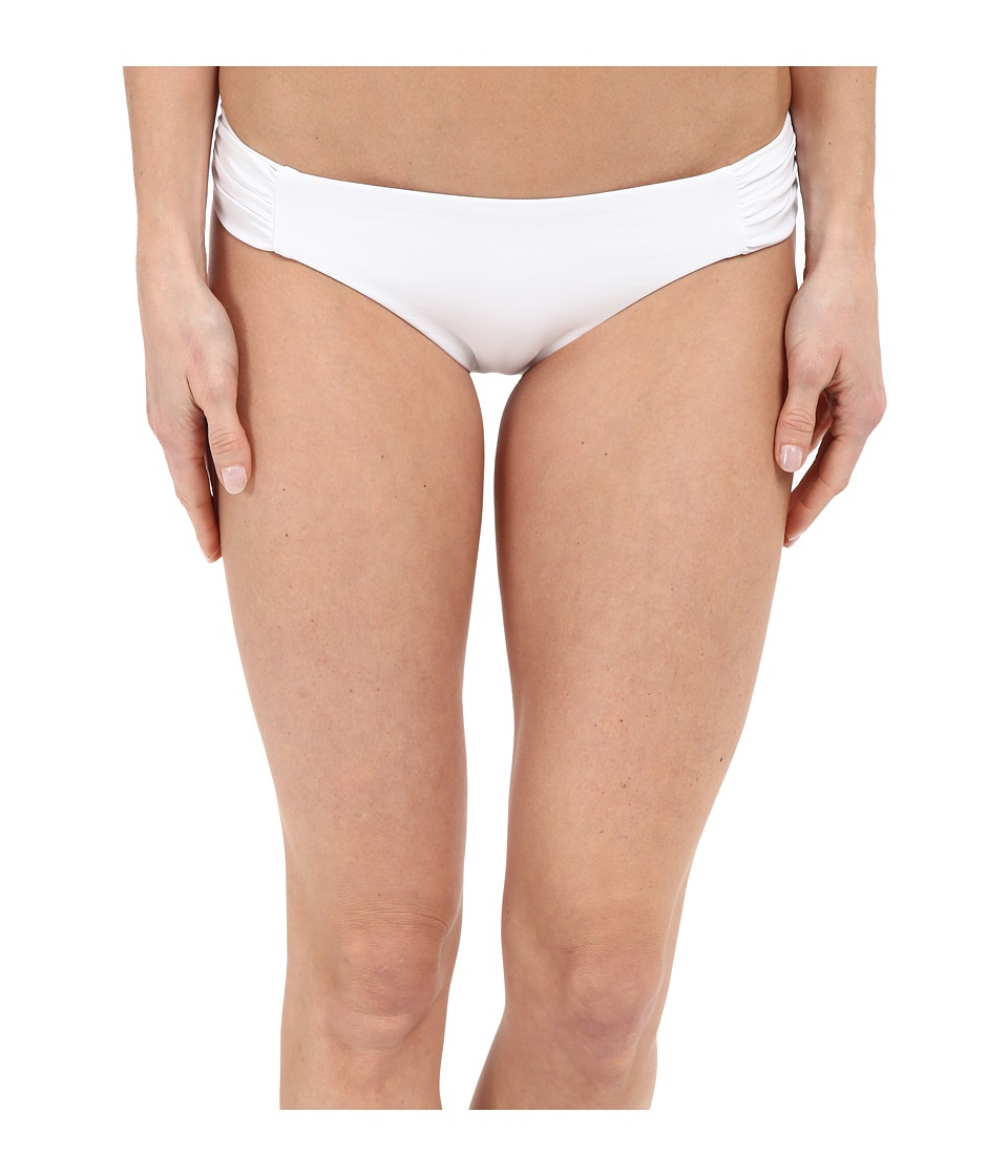 BECCA by Rebecca Virtue Color Code American Side Tab Bottom White Womens Swimwear