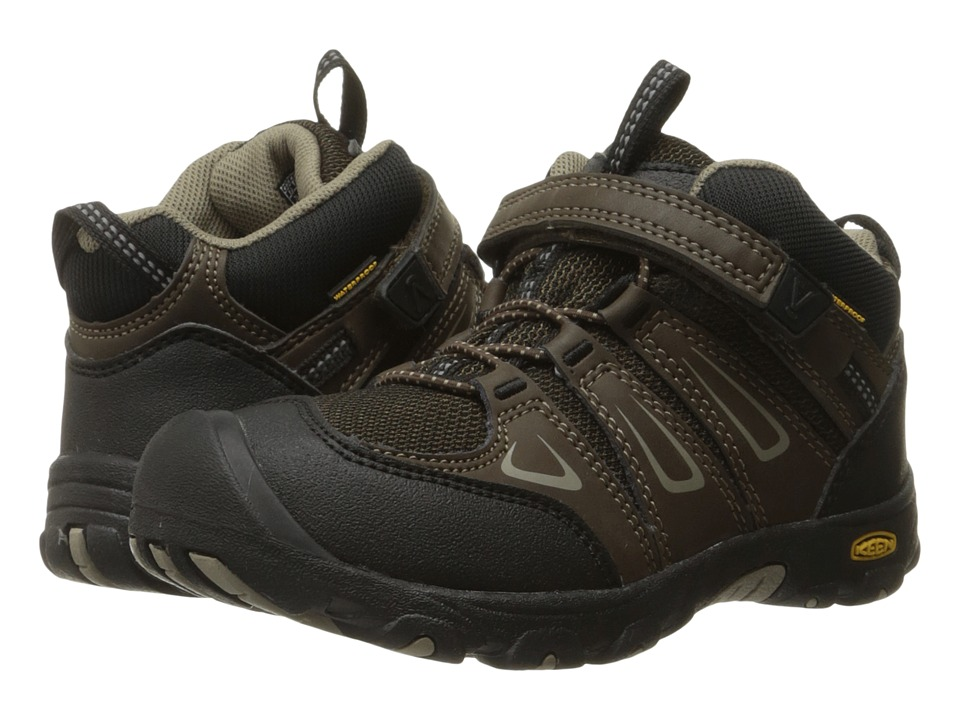 Keen Kids Oakridge Mid WP (Toddler/Little Kid) (Cascade Brown/Brindle) Boys Shoes