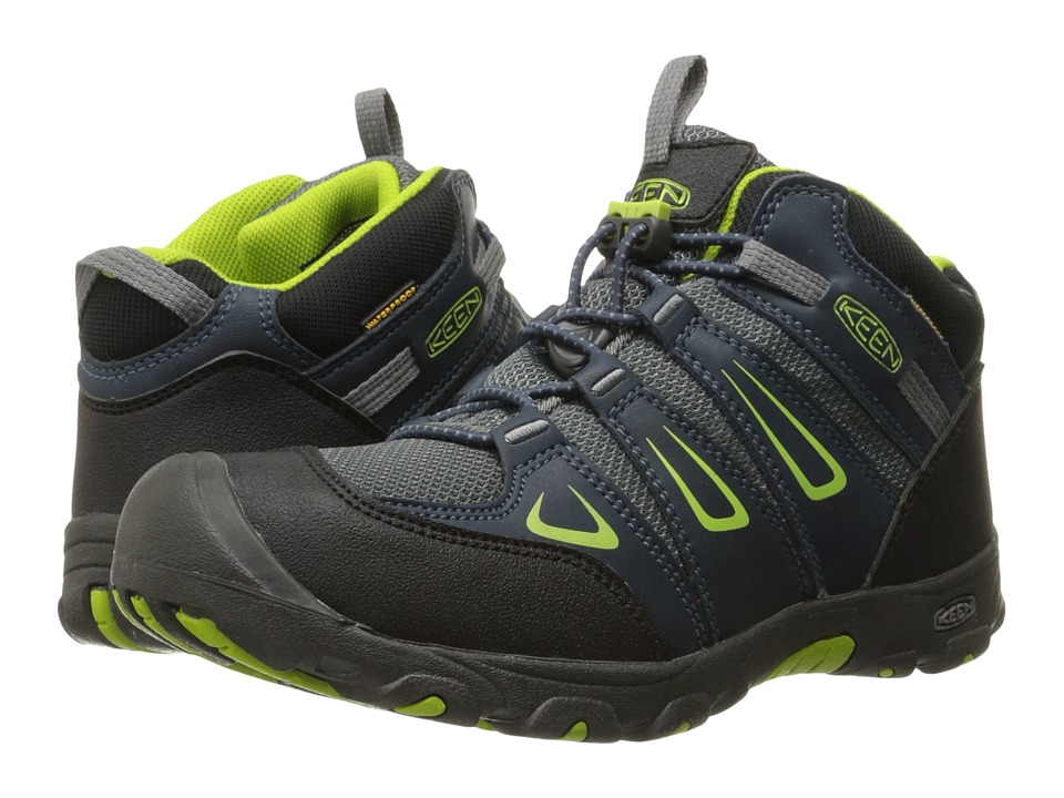 Keen Kids Oakridge Mid WP (Little Kid/Big Kid) (Midnight Navy/Macaw) Boys Shoes