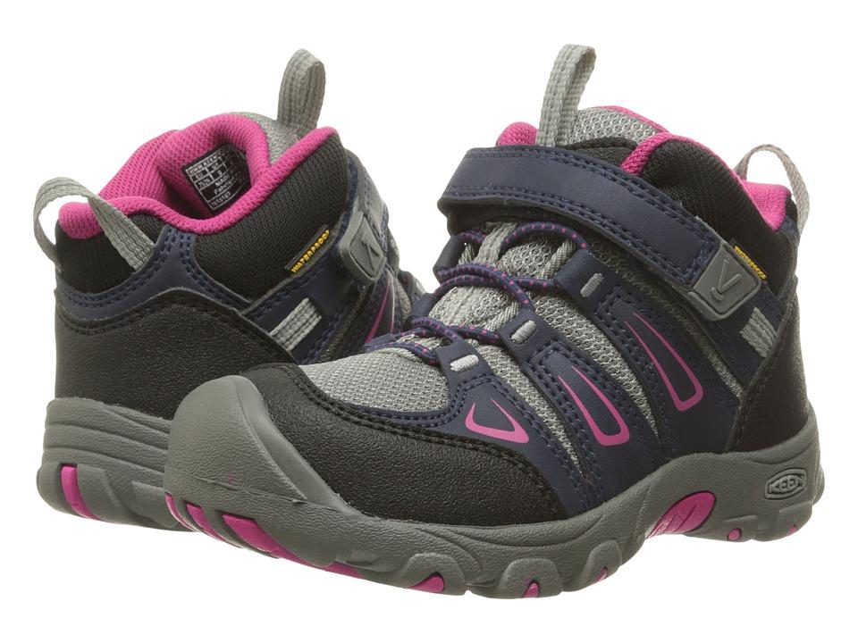 Keen Kids Oakridge Mid WP (Toddler/Little Kid) (Dress Blues/Very Berry) Girls Shoes