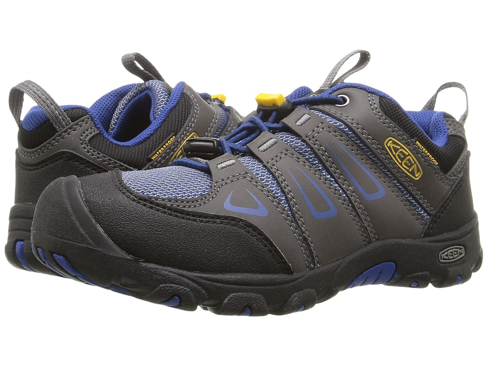 Keen Kids Oakridge Low WP (Little Kid/Big Kid) (Magnet/True Blue) Boys Shoes