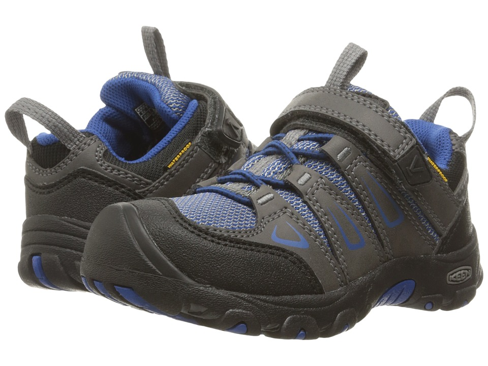 Keen Kids Oakridge Low WP (Toddler/Little Kid) (Magnet/True Blue) Boys Shoes