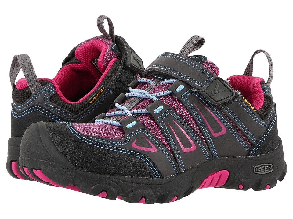 Keen Kids Oakridge Low WP (Toddler/Little Kid) (Magnet/Very Berry) Girls Shoes