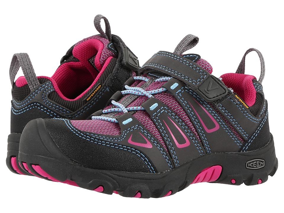 Keen Kids Oakridge Low WP (Toddler/Little Kid) (Magnet/Very Berry) Girls Shoes