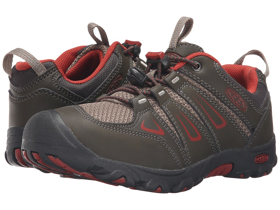 Keen Kids Oakridge Low (Little Kid/Big Kid) (Black Olive/Bossa Nova) Boys Shoes