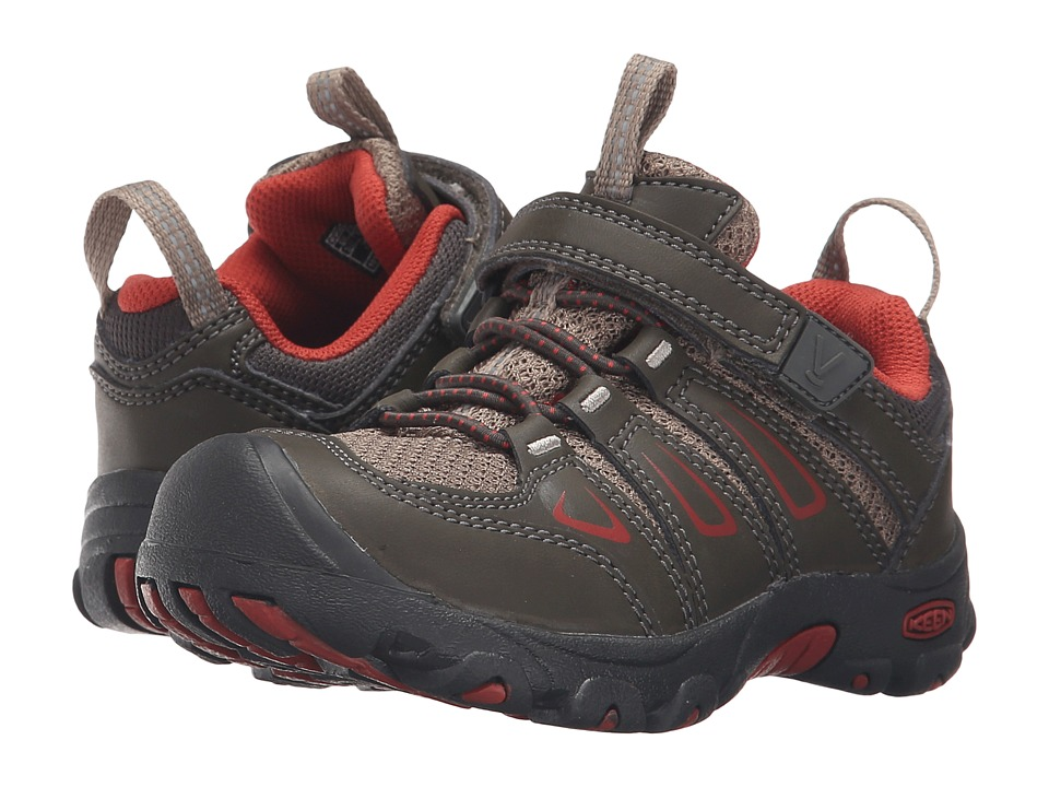 Keen Kids Oakridge Low (Toddler/Little Kid) (Black Olive/Bossa Nova) Boys Shoes