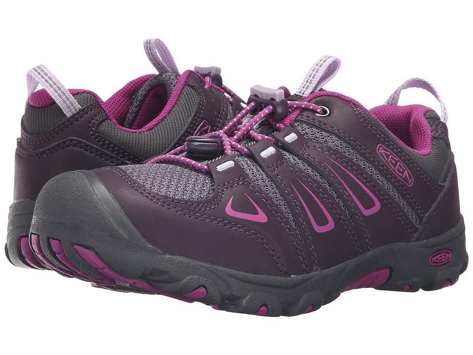 Keen Kids Oakridge Low (Little Kid/Big Kid) (Plum/Purple Wine) Girls Shoes