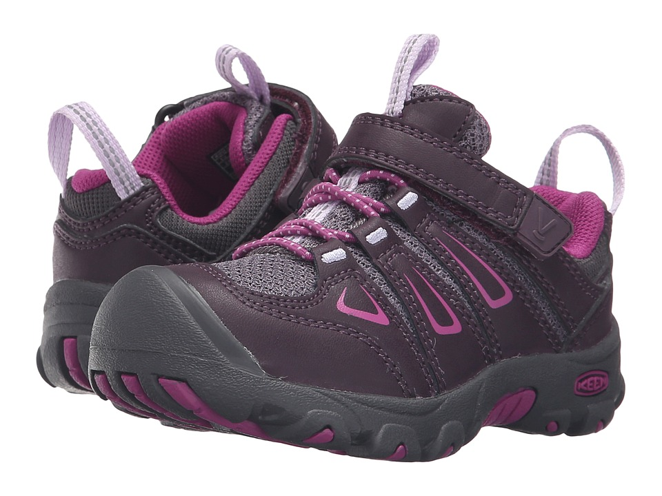 Keen Kids Oakridge Low (Toddler/Little Kid) (Plum/Purple Wine) Girls Shoes