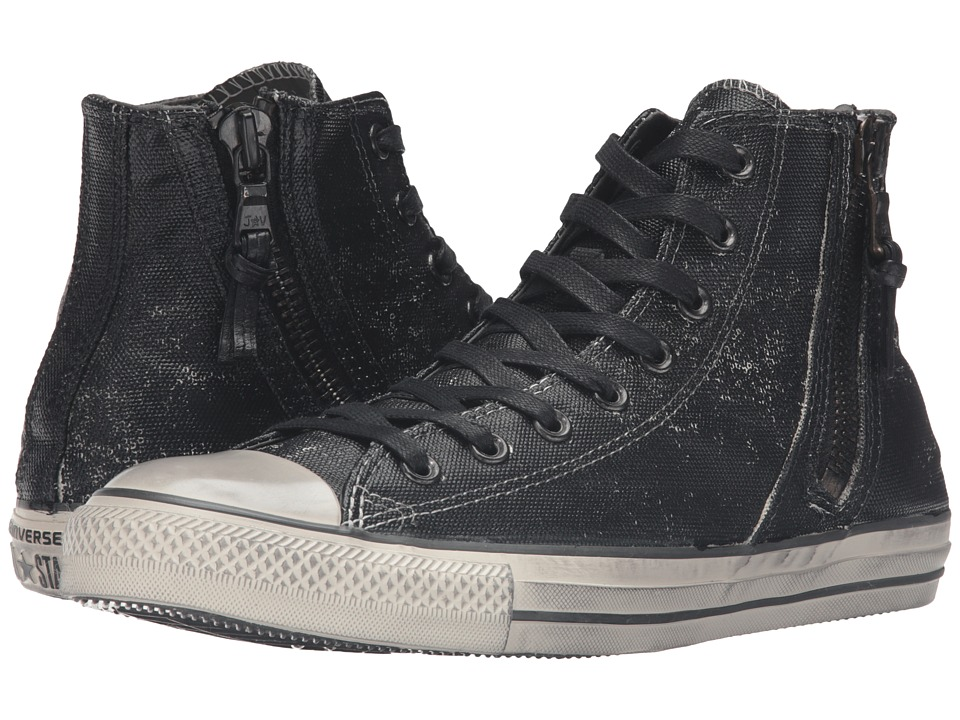 Converse by John Varvatos Chuck Taylor All Star Side Zip Heavyweight Canvas Hi (Black) Lace up casual Shoes