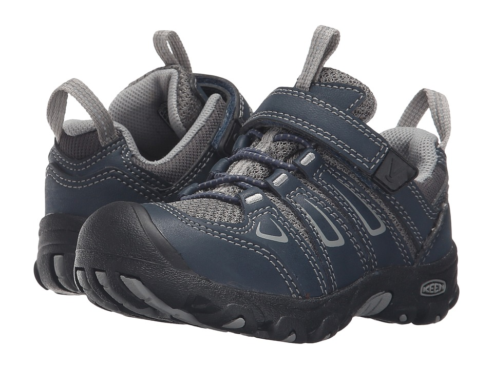 Keen Kids Oakridge Low (Toddler/Little Kid) (Midnight Navy/Neutral Gray) Kids Shoes