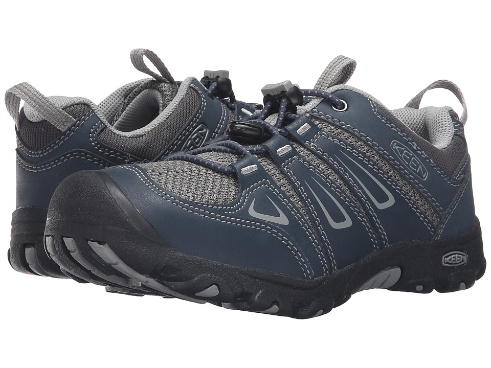 Keen Kids Oakridge Low (Little Kid/Big Kid) (Midnight Navy/Neutral Gray) Kids Shoes