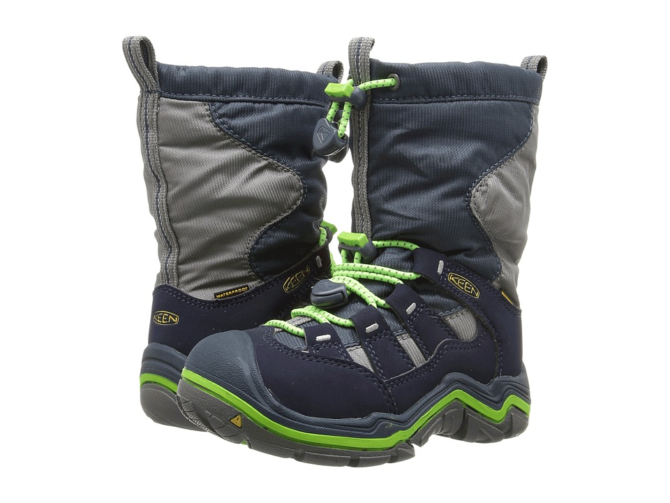 Keen Kids Winterport II WP (Toddler/Little Kid) (Midnight Navy/Jasmine Green) Boys Shoes