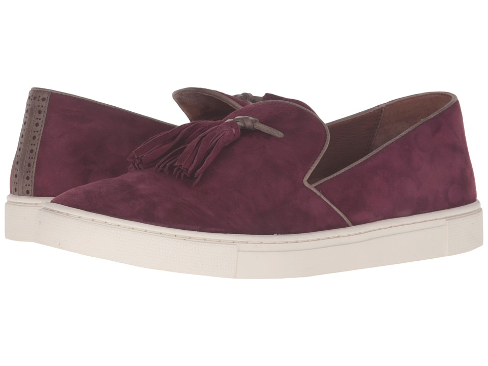Frye - Gemma Tassel Slip (Bordeaux Suede/Soft Full Grain Leather) Women