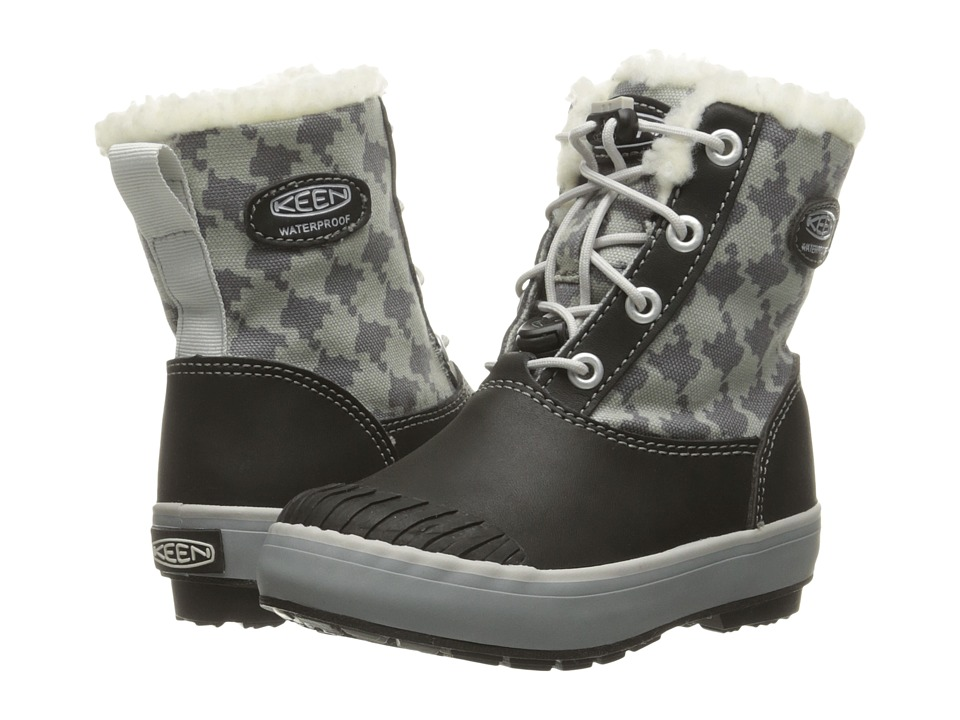 Keen Kids Elsa Boot WP (Toddler/Little Kid) (Black/Houndstooth) Kids Shoes