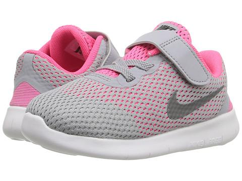 Nike Kids Free RN (Infant/Toddler) - Wolf Grey/Metallic Silver/White/Black