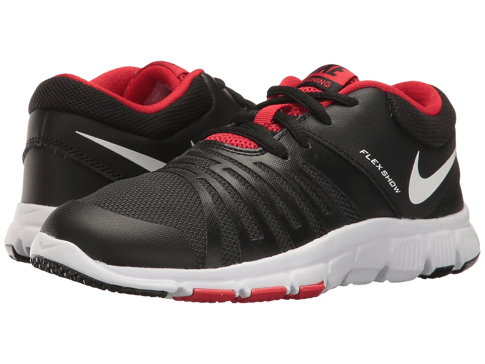 Nike Kids Flex Show TR 5 (Little Kid/Big Kid) (Black/University Red/White) Boys Shoes