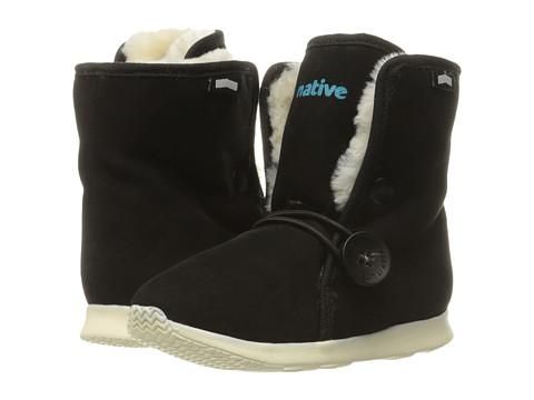 Native Kids Shoes Luna Child Boot (Toddler/Little Kid) - Jiffy Black/Bone White