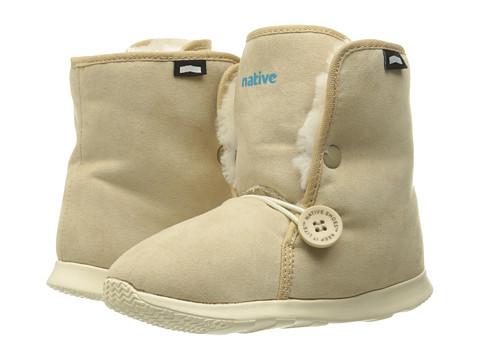 Native Kids Shoes Luna Junior Boot (Little Kid) - Rocky Brown/Bone White