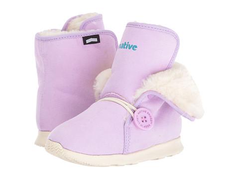 Native Kids Shoes Luna Child Boot (Toddler/Little Kid) - Sage Purple/Bone White