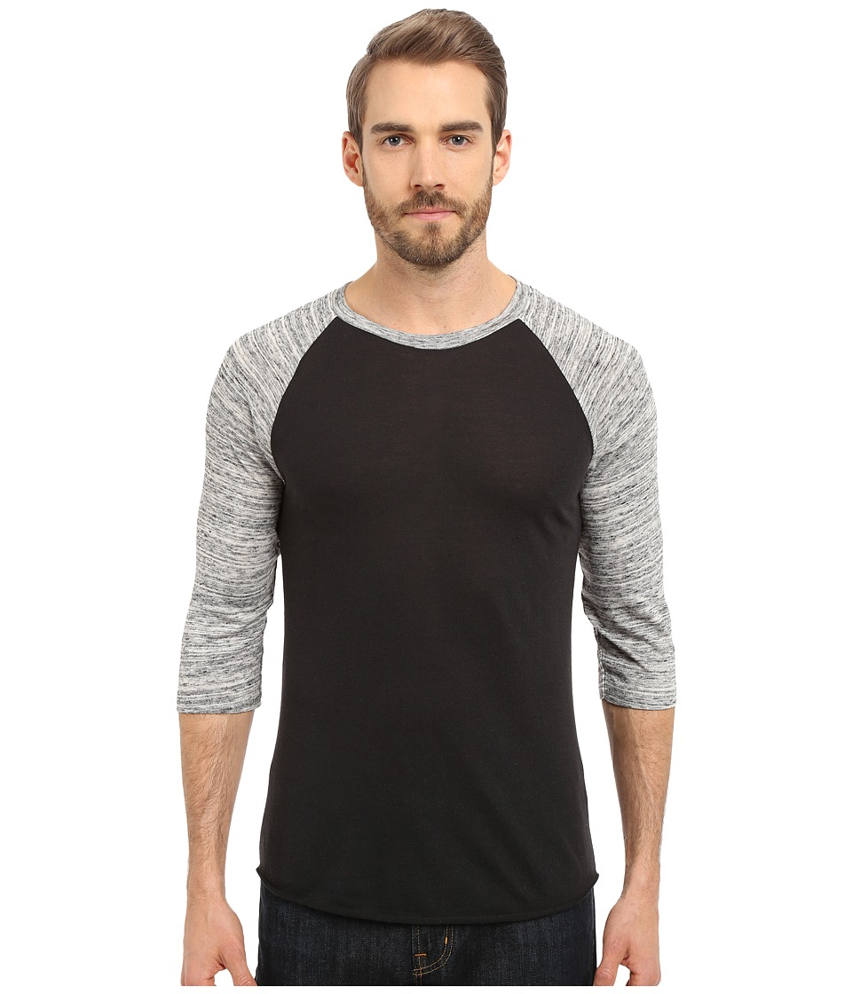 Alternative Baseball Tee Eco True Black/Urban Grey Mens T Shirt