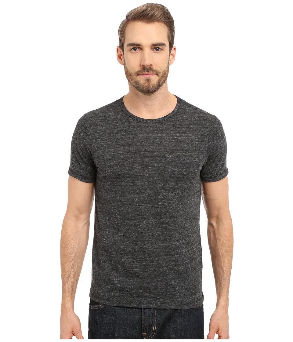 Alternative Pocket Crew Eco Black Mens Short Sleeve Pullover