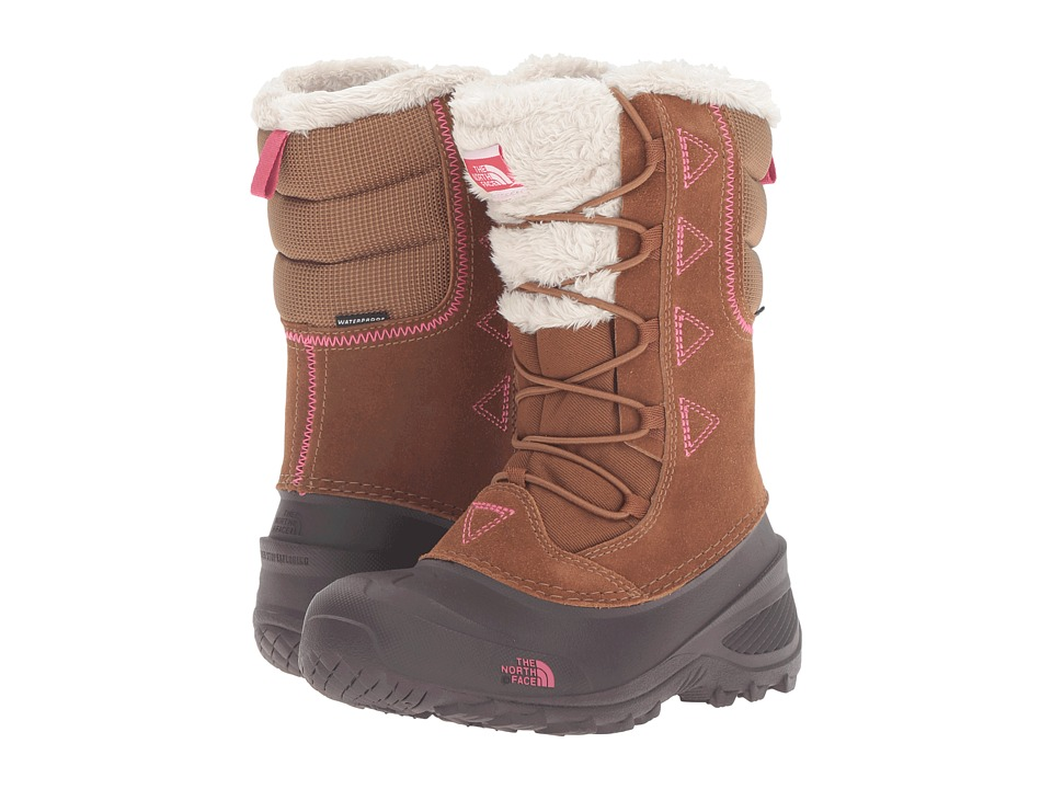 The North Face Kids - Shellista Lace II (Toddler/Little Kid/Big Kid) (Dachshund Brown/Cabaret Pink) Girls Shoes