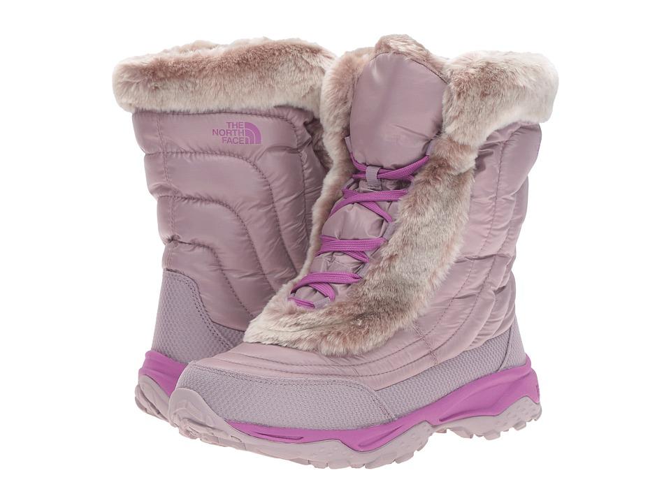 The North Face Kids - Nuptse Faux Fur II (Toddler/Little Kid/Big Kid) (Quail Grey/Wisteria Purple) Girls Shoes