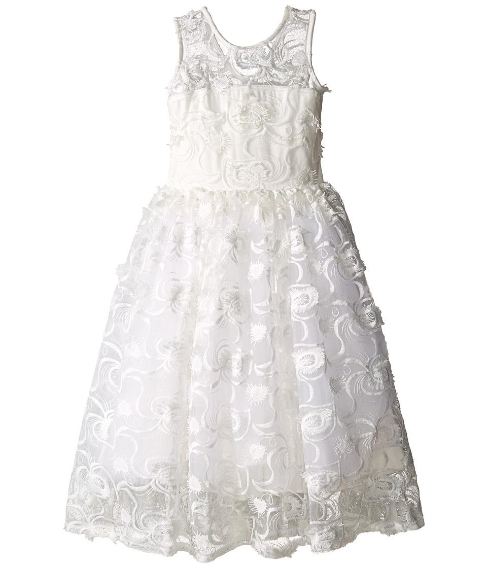fiveloaves twofish Hepburn Lace Midi Dress Little Kids/Big Kids White Girls Dress