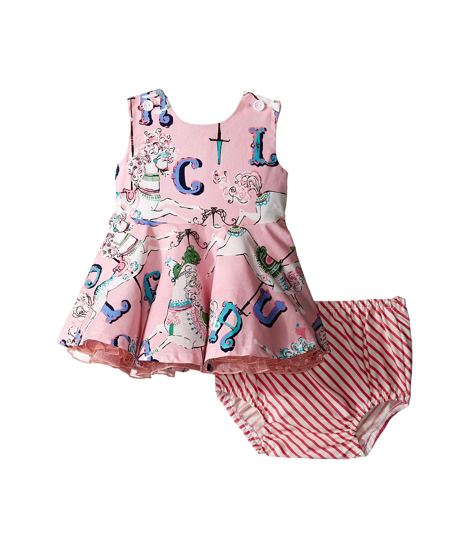 fiveloaves twofish Carousel Dress Infant Pink Girls Dress