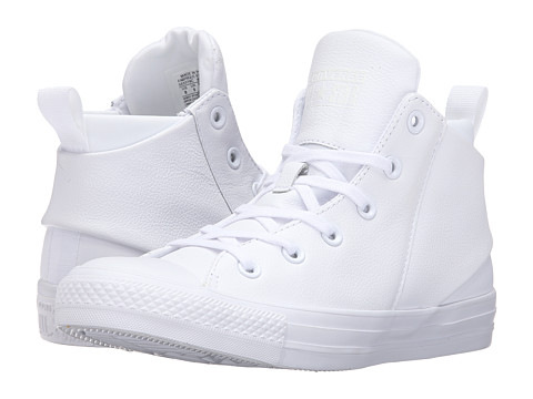 Converse Chuck Taylor® All Star® Sloane Monochrome Leather Hi - White/White/White
