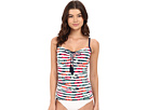 Show Your Stripes Over the Shoulder Cup Long Tankini