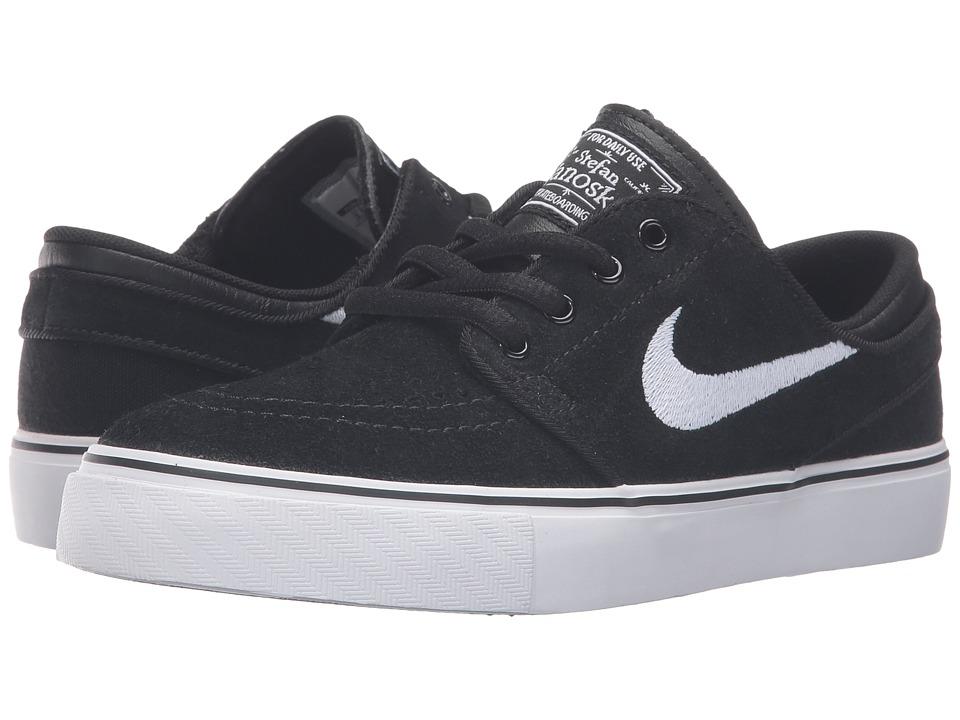 Nike SB Kids - Stefan Janoski (Big Kid) (Black/Gum Medium Brown/White) Boys Shoes