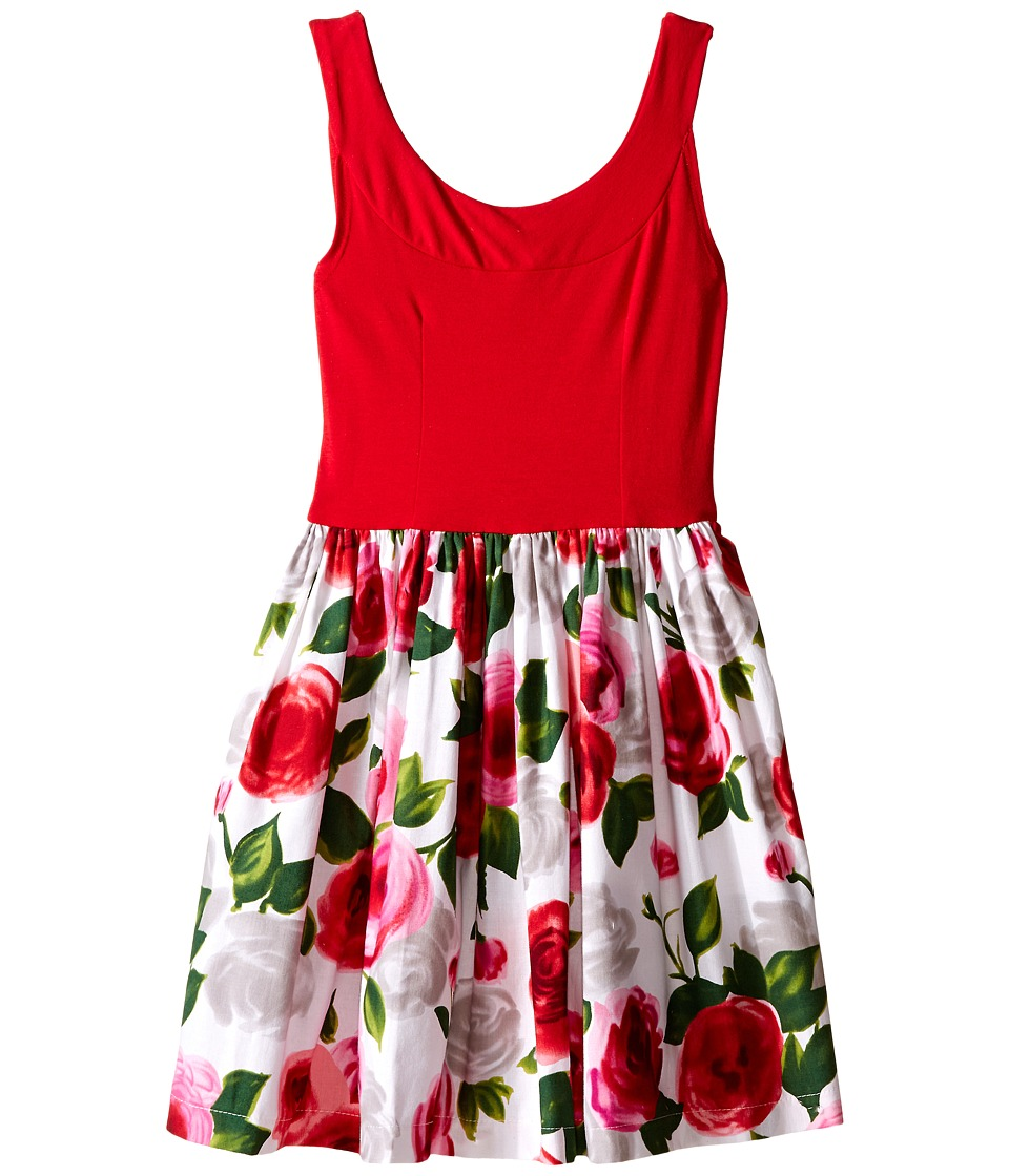 fiveloaves twofish Bouquet Wrap Dress Little Kids/Big Kids Red Rose Girls Dress