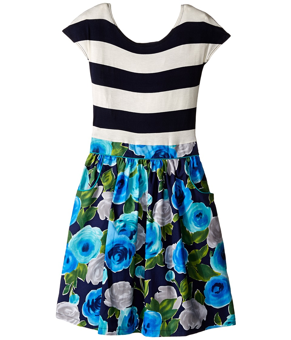 fiveloaves twofish Cecilia Dress Little Kids/Big Kids Navy Girls Dress