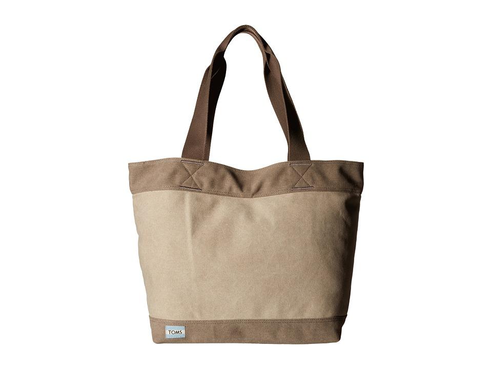 TOMS Canvas Tote Grey Tote Handbags