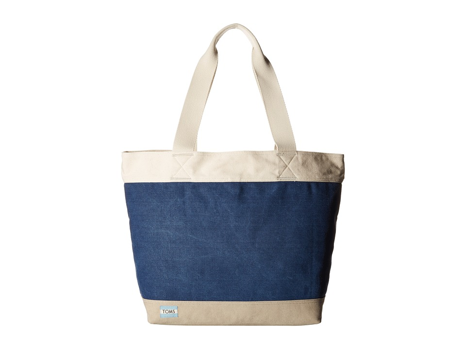 TOMS Canvas Tote Dark Blue Tote Handbags