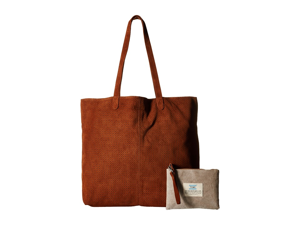 TOMS - Suede Tote (Brown) Tote Handbags