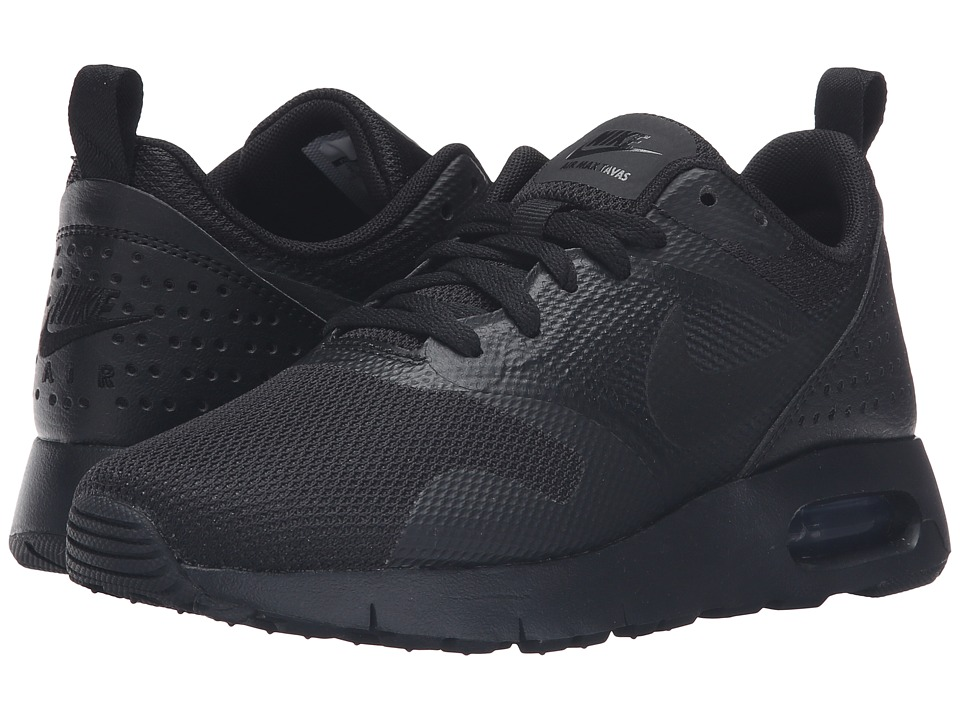 Nike Kids Air Max Tavas GS (Big Kid) (Black/Black) Boys Shoes