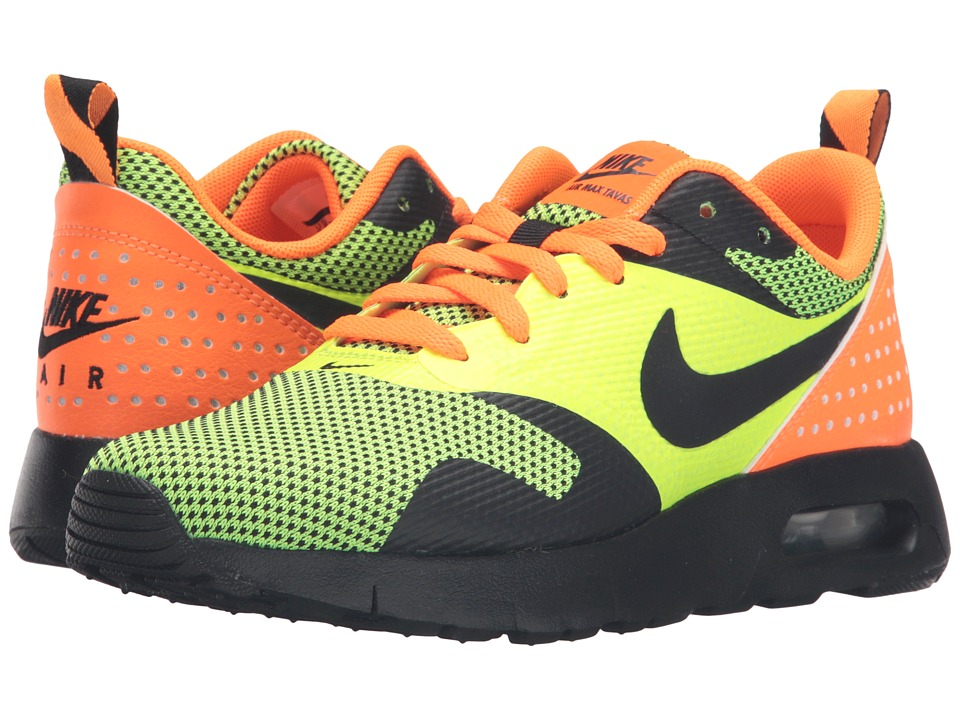 Nike Kids Air Max Tavas GS (Big Kid) (Volt/Total Orange/Black) Boys Shoes