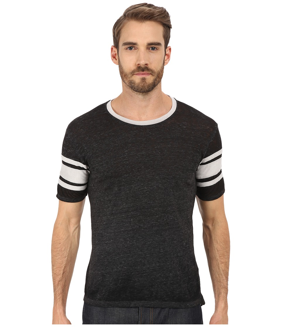 Alternative Eco Jersey Burnout Touchdown Tee Eco Black Mens T Shirt