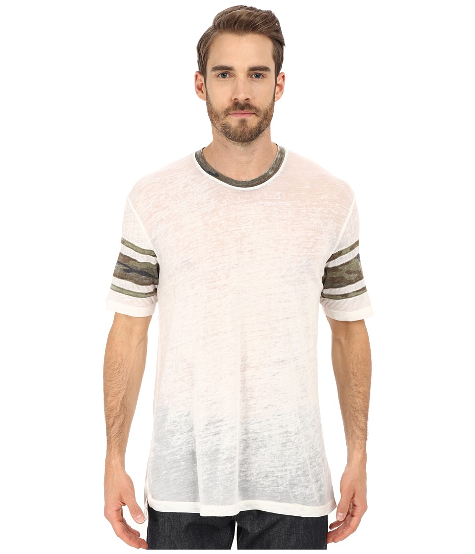 Alternative Eco Jersey Burnout Touchdown Tee Eco Ivory Mens T Shirt